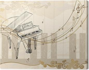 Musiikillinen tausta Kangaskuva