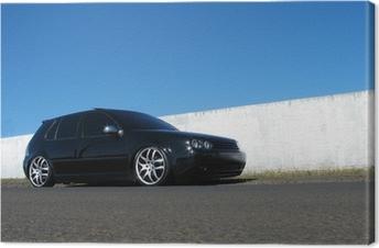 Musta auto Kangaskuva