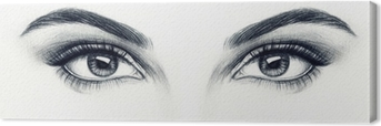 Naisen silmät Kangaskuva
