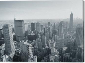 New york city skyline mustavalkoinen Kangaskuva