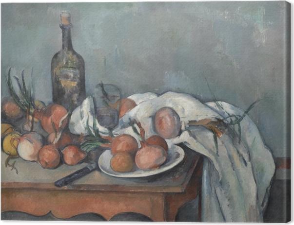 Paul Cézanne - Asetelma sipulia Kangaskuva -