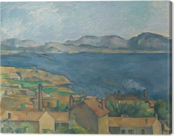 Paul Cézanne - L'Estaque, Näkymä lahden Marseillen Kangaskuva -