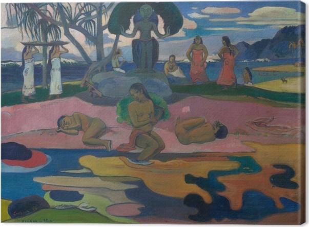 Paul Gauguin - Mahana Ei Atua (päivä teh God) Kangaskuva -