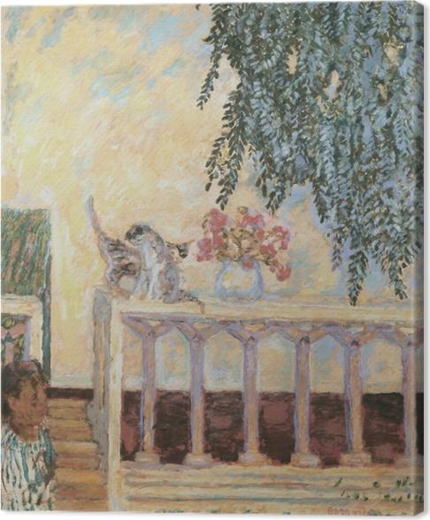Pierre Bonnard - Kissat kaiteella Kangaskuva - Reproductions