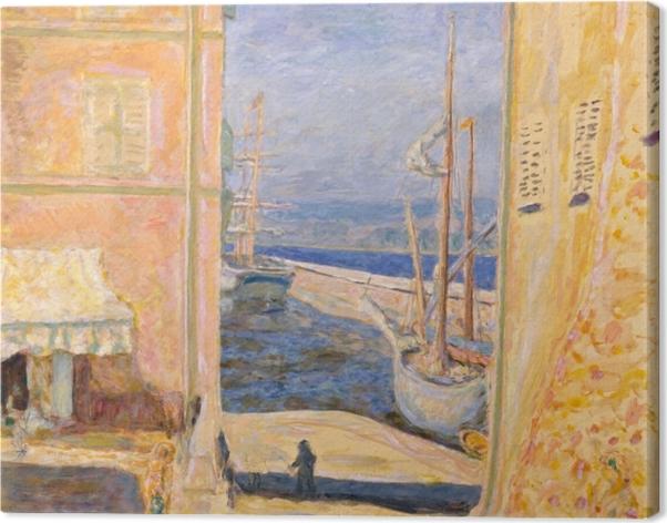 Pierre Bonnard - Näkymä Saint-Tropezin vanhaan satamaan Kangaskuva - Reproductions