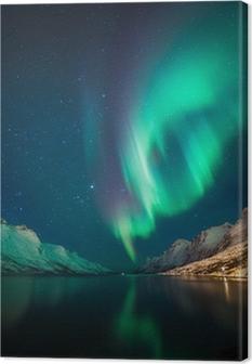 Pohjoisen valot norjassa Kangaskuva
