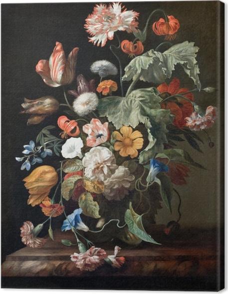 Rachel Ruysch - Still-Life with Flowers Kangaskuva -