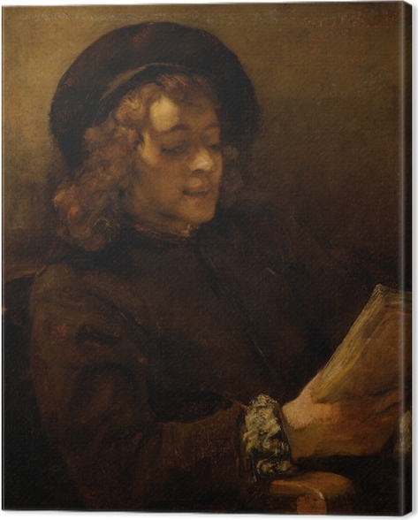 Rembrandt - Titus Reading Kangaskuva -