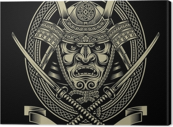 Samurai soturi katana miekalla Kangaskuva