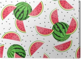 Saumaton malli vesimeloni viipaleilla. vektori kuva. Kangaskuva