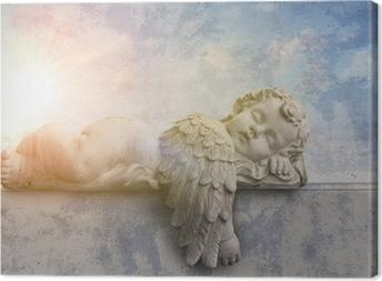 Schlafender engel im sonnenschein Kangaskuva