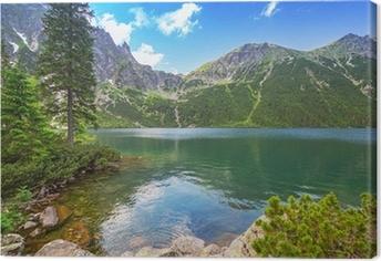 Silta meren järven tatra vuoret, poland Kangaskuva