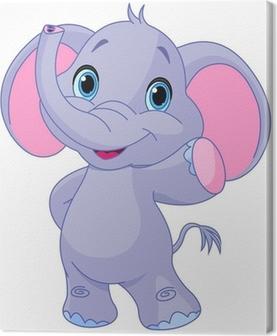 Söpö elefantti Kangaskuva