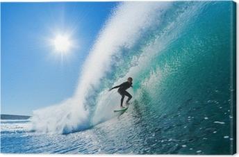 Surffaa sinisellä valtamerellä Kangaskuva