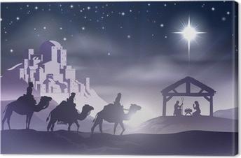 Syntymäpäivä joulu kohtaus Kangaskuva