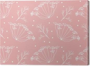 Tilliä tai fenkoli kukkia ja lehtiä kuvio. Kangaskuva