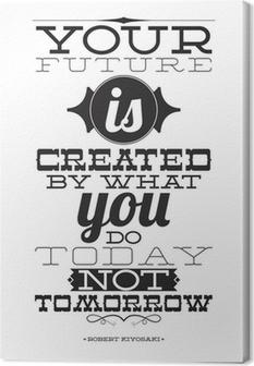 Tulevaisuutesi luo mitä teet tänään, ei huomenna Kangaskuva