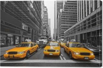 Tyellow taksit new york city, usa. Kangaskuva