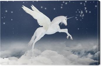 Unicorn taivaalla Kangaskuva