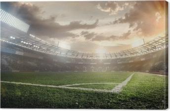 Urheilu taustat. jalkapallostadionilla. Kangaskuva