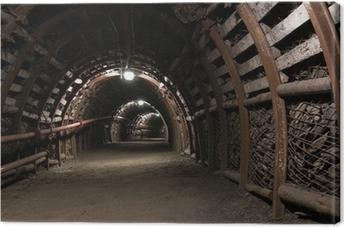 Vahvistettu tunneli hiilikaivoksessa Kangaskuva