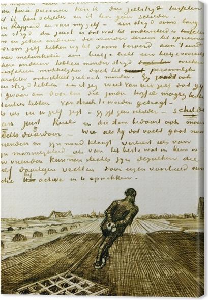 Vincent van Gogh - Mies vetää aes Kangaskuva - Reproductions