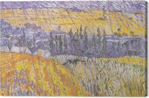 Vincent van Gogh - Rain-Auvers Kangaskuva - Reproductions