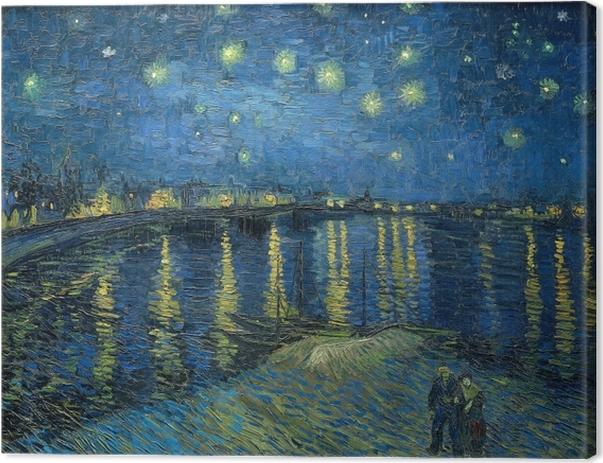 Vincent van Gogh - Tähtiyö Yli Rhone Kangaskuva - Reproductions