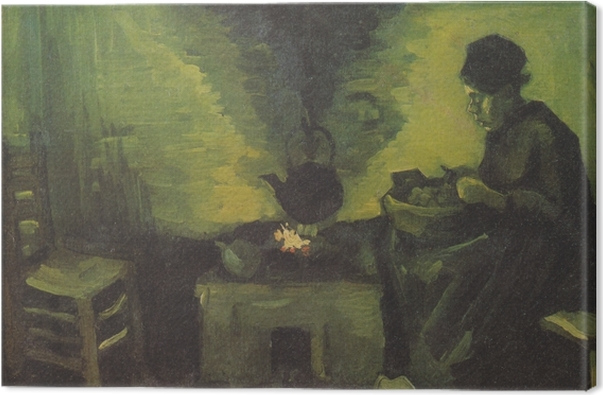 Vincent van Gogh - Talonpoika nainen jonka perhe Kangaskuva - Reproductions