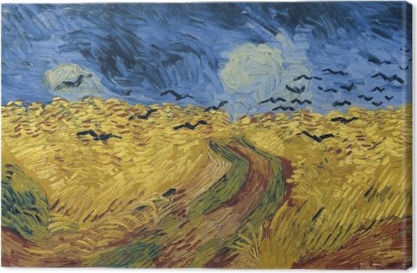 Vincent van Gogh - Vehnäpelto ja variksia Kangaskuva - Reproductions