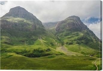 Vuoristonäkymä Skotlannissa glencoe Kangaskuva