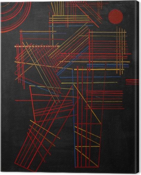 Wassily Kandinsky - Värilliset Sticks Kangaskuva -