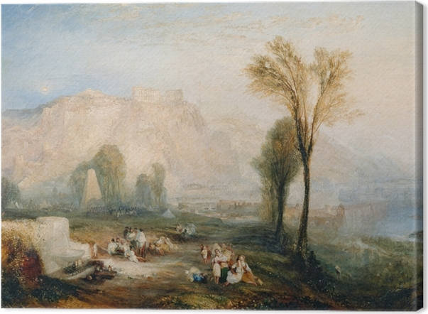 William Turner - Bright Stone of Honor (Ehrenbreitsteinin) ja hauta Marceau Byron n 'Childe Harold' Kangaskuva -