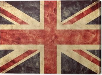 Yhdistyneen kuningaskunnan grunge lippu. vintage lippujen kokoelma Kangaskuva
