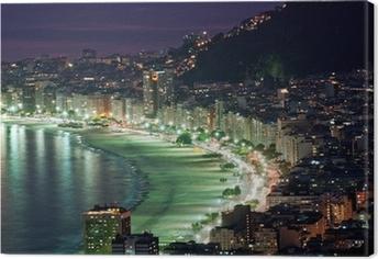 Yönäkymä copacabanan rannalta. Rio de Janeiro Kangaskuva