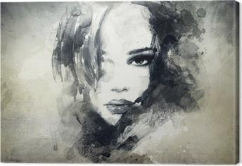Abstrakti nainen muotokuva Kangastuloste