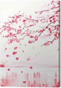 Japanilainen kirsikkapuuta Kangastuloste