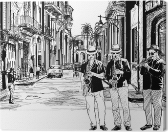 Jazzbändi Kuubassa Kangastuloste