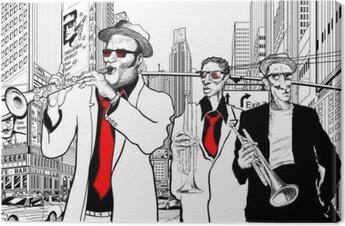 Jazzbändi New Yorkin kadulla Kangastuloste