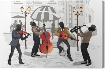 Katukahvila ja muusikot Kangastuloste