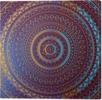 Kulta mandala. indian koriste-kuvio. Kangastuloste