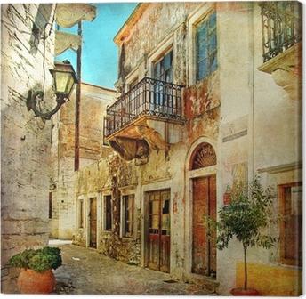 Kuvia vanhoista kaduista Kreikasta Kangastuloste