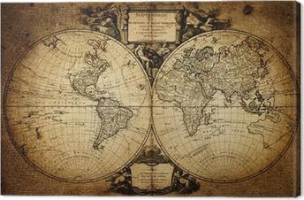 Maailman 1752 kartta Kangastuloste