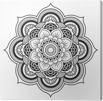 Mandala. pyöreä koriste-kuvio Kangastuloste