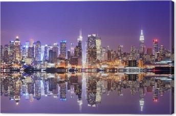 Manhattan-horisontti, jossa heijastukset Kangastuloste