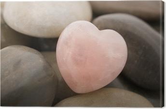 Ruusukvartsi sydän Kangastuloste