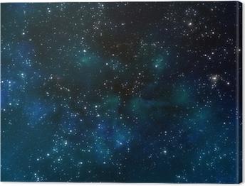 Syvä avaruus tai tähtitaivas taivas Kangastuloste