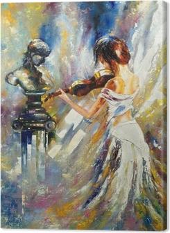 Tyttö soittaa viulua Kangastuloste