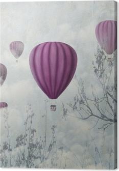 Vaaleanpunaiset ilmapallot Kangastuloste