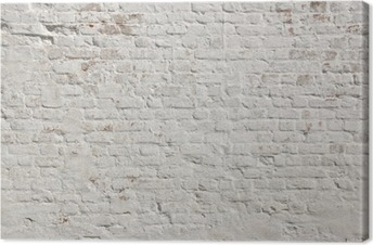 Valkoinen grunge tiiliseinä taustalla Kangastuloste
